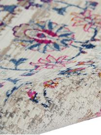 Passatoia a pelo corto Kashan, Retro: Latex, Beige, multicolore, Larg. 60 x Lung. 180 cm