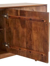 Retro Sideboard Paul mit Türen aus massivem Mangoholz, Braun, 180 x 75 cm