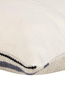 Gewebte Kissenhülle Toluca im Ethno Style, 100% Baumwolle, Schwarz, Beige, Grau, 45 x 45 cm