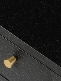 Bureau noir en métal Verona, Noir