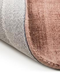 Handgeweven viscose vloerkleed Jane in terracottakleur, Bovenzijde: 100% viscose, Onderzijde: 100% katoen, Terracottakleurig, B 200 x L 300 cm (maat L)