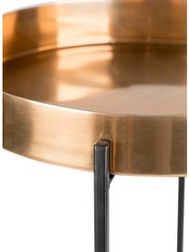 Tavolino in marmo Another, Gambe: metallo verniciato a polv, Multicolore, Ø 37 x Alt. 57 cm