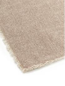 Tovaglietta americana Edge 6 pz, 85% cotone, 15% fibre miste, Beige, Larg. 33 x Lung. 48 cm