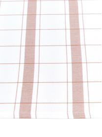 Ręcznik kuchenny z bawełny Halida, 2 szt., 100% bawełna, Biały, nugatowy brązowy, S 55 x D 75 cm