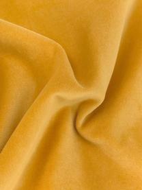 Federa arredo in velluto giallo ocra Dana, 100% velluto di cotone, Ocra, Larg. 50 x Lung. 50 cm