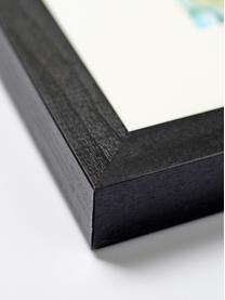 Gerahmter Digitaldruck Holli, Bild: Digitaldruck auf Papier, , Rahmen: Buchenholz, lackiert, Front: Plexiglas, Schwarz, Weiß, 33 x 43 cm