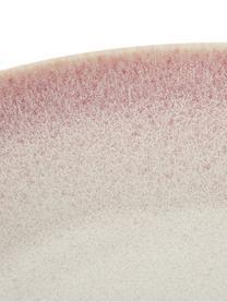 Assiette à soupe artisanale Amalia, 2pièces, Rose pastel, blanc crème