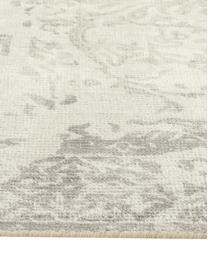 Vintage vloerkleed Florentine, wol/viscose, Beige, lichtgrijs, 170 x 240 cm