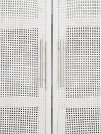 Dressoir Cayetana van hout, Frame: gelakt MDF, Handvatten: metaal, Poten: bamboehout, gelakt, Wit, 80 x 101 cm