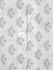 Gemusterte Wendebettwäsche Tiara aus Bio-Baumwolle, Webart: Renforcé Fadendichte 144 , Beige, Weiß, 240 x 220 cm + 2 Kissen 80 x 80 cm