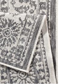 Dwustronny dywan wewnętrzny/zewnętrzny vintage Curacao, Szary, odcienie kremowego, S 80 x D 150 cm (Rozmiar XS)