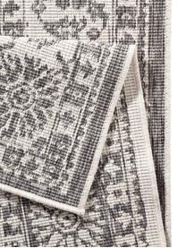 Tappeto vintage reversibile da interno-esterno Curacao, Grigio, color crema, Larg. 200 x Lung. 290 cm (taglia L)
