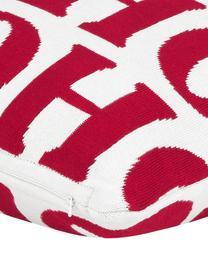 Funda de cojín Ho ho ho, Algodón, Blanco crema, rojo, An 45 x L 45 cm