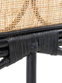 Zagłówek z rattanu Lalita, Blat: wiklina rattanowa, Beżowy, czarny, S 170 x D 120 cm