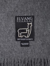 Plaid in baby alpaca Luxury, Grigio, P 130 x L 200 cm