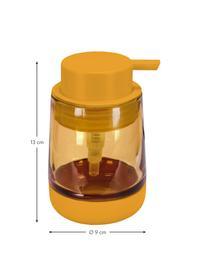 Seifenspender Belly aus Glas, Becher: Glas, Pumpkopf: Kunststoff, Orange, Ø 9 x H 13 cm
