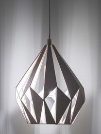 Skandi-Pendelleuchte Carlton, Lampenschirm: Stahl, lackiert, Baldachin: Stahl, lackiert, Aprikosenfarben, Ø 31 x H 40 cm