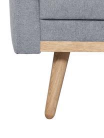 Sessel Saint in Blaugrau mit Eichenholz-Füßen, Bezug: Polyester Der hochwertige, Gestell: Massives Kiefernholz, Spa, Webstoff Blaugrau, B 85 x T 76 cm