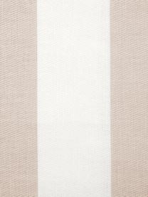 Gestreifte Kissenhülle Timon in Beige/Weiß, 100% Baumwolle, Taupe, Weiß, 45 x 45 cm