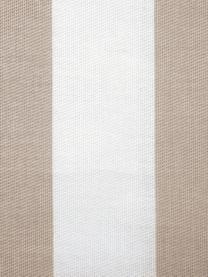 Gestreifte Kissenhülle Timon in Beige/Weiß, 100% Baumwolle, Taupe, Weiß, 40 x 40 cm