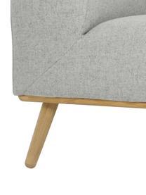 Canapé d'angle gris clair Archie, Tissu gris clair