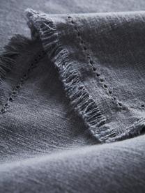 Baumwoll-Tischdecke Henley mit Fransen, 100% Baumwolle, Dunkelblau, Für 6 - 10 Personen (B 145 x L 250 cm)