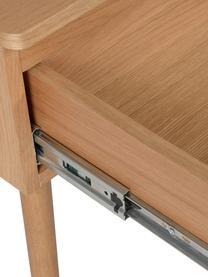 Nachttisch Wild mit Schublade, Mitteldichte Holzfaserplatte (MDF) mit Eichenholzfurnier, Eichenholz, B 50 x T 40 cm