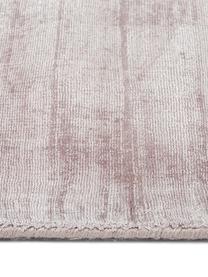 Alfombra artesanal de viscosa Jane, Parte superior: 100%viscosa, Reverso: 100%algodón, Lila, An 160 x L 230 cm (Tamaño M)