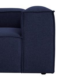Modulare Ottomane Lennon in Blau, Bezug: 100% Polyester Der strapa, Gestell: Massives Kiefernholz, Spe, Füße: Kunststoff Die Füße befin, Webstoff Blau, B 269 x T 119 cm