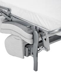 Canapé convertible 2 places tissu gris clair Morgan, Gris