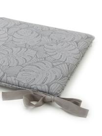 Poduszka na ławkę Palm, Tapicerka: 50% bawełna, 45% polieste, Szary, S 48 x D 140 cm