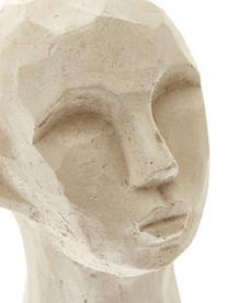Decoratieve objectenset Figure Head, 3-delig, Beton, Wit, bruin, grijs, Ø 9 x H 15 cm