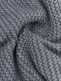 Strick-Kissenhülle Adalyn aus Bio-Baumwolle in Hellgrau, 100% Bio-Baumwolle, GOTS-zertifiziert, Hellgrau, 40 x 60 cm