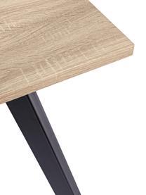 Table avec plateau en bois Henry, Bois de chêne