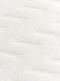 Badetuch Karma mit Hoch-Tief-Muster, Weiß, Beige, Badetuch