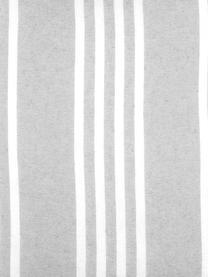 Gestreiftes Kissen Mandelieu in Grau, mit Inlett, Baumwollgemisch, Hellgrau, Weiß, 50 x 50 cm