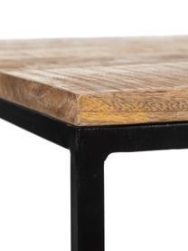 Komplet stolików kawowych z drewna Kentin, 2 elem., Blat: drewno mangowe, Stelaż: metal lakierowany, Brązowy, Komplet z różnymi rozmiarami