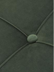 Samt-Schlafsofa Perugia in Grün mit Metall-Füssen, ausklappbar, Bezug: Polyester Der hochwertige, Samt Grün, B 198 x T 95 cm