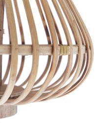 Latarenka Sahara, Drewno bambusowe, Rama: bambus Szklana wkładka: transparentny, Ø 32 x W 28 cm