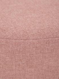 Hocker Mara mit Wiener Geflecht, Bezug: Polyester 40.000 Scheuert, Rahmen: Sperrholz, Fuß: Massives Birkenholz, Ratt, Altrosa, Ø 37 x H 40 cm