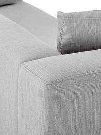 Ecksofa Carrie in Grau mit Metall-Füßen, Bezug: Polyester 50.000 Scheuert, Gestell: Spanholz, Hartfaserplatte, Füße: Metall, lackiert, Webstoff Grau, B 222 x T 180 cm