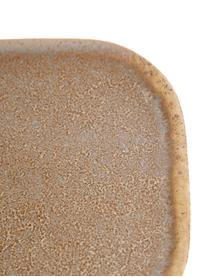 Ręcznie wykonany komplet półmisków z kamionki Addison, 3 elem., Kamionka, Beżowy, biały, D 23 x S 15 cm