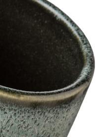 Aufbewahrungsdose Mila, Keramik, glasiert, Graugrün, Ø 8 x H 10 cm
