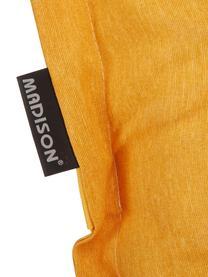 Nakładka na krzesło z oparciem Panama, Tapicerka: 50% bawełna, 45% polieste, Żółty, S 50 x D 123 cm