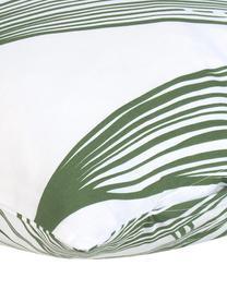 Baumwoll-Kissenbezüge Alessa mit Blätterprint, 2 Stück, Webart: Renforcé Fadendichte 144 , Weiß, Hellgrün, Dunkelgrün, 40 x 80 cm