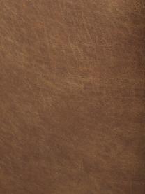 Modulaire XL chaise longue Lennon in bruin van gerecycled leer, Bekleding: polyester De hoogwaardige, Frame: massief grenenhout, multi, Poten: kunststof De poten bevind, Leer bruin, B 357 x D 119 cm