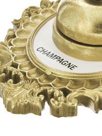 Wandobjekt Bell aus Polyresin, Rahmen: Polyresin, Glocke: Metall, Goldfarben, Weiss, Schwarz, 14 x 23 cm