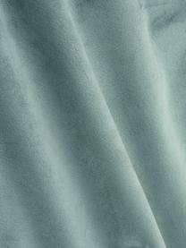 Mintgrüne Samt-Kissenhülle Caja mit goldener Stickerei, 100% Polyestersamt, Mintgrün, 30 x 50 cm