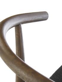 Sedia York, Seduta: corda di carta intrecciat, Nero, marrone scuro, Larg. 54 x Prof. 54 cm