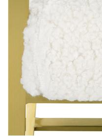 Teddy loungefauteuil Manhattan in crèmewit, Bekleding: polyester (teddyvacht), Frame: gecoat metaal, Teddy crèmewit, B 70 x D 72 cm